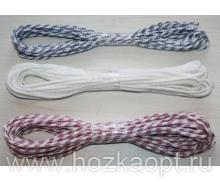 Шнур плетеный из хим.нитей d= 6мм (1кг/85м) 1сорт (разрыв.нагруз.130кгс) 12-прядный