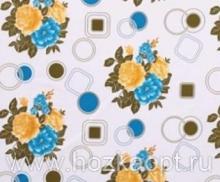 23013 Клеенка ВЕРОНА на нетканной осн.1,37*25м мод. SJ261В жел./гол.цветы на белом