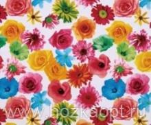 23014 Клеенка ВЕРОНА на нетканной осн.1,37*25м мод. SJ263А цветы на белом