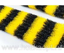 Мочалка Пчелка 12*45см (махр.полотно, поролон), жесткая