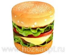 Пуф с фотопечатью Гамбургер 45*45*45см
